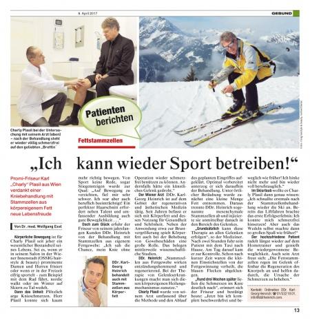 """Fettstammzellen: """"Ich kann wieder Sport betreiben"""""""