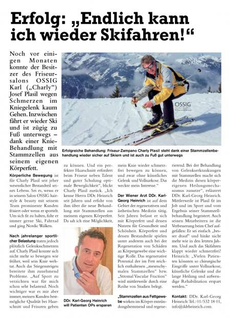 """Dein Bezirk: Erfolg: """"Endlich kann ich wieder Skifahren!"""""""