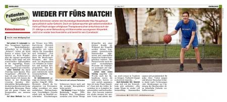 Krone: Knieschmerzen: Wieder fit fürs Match!