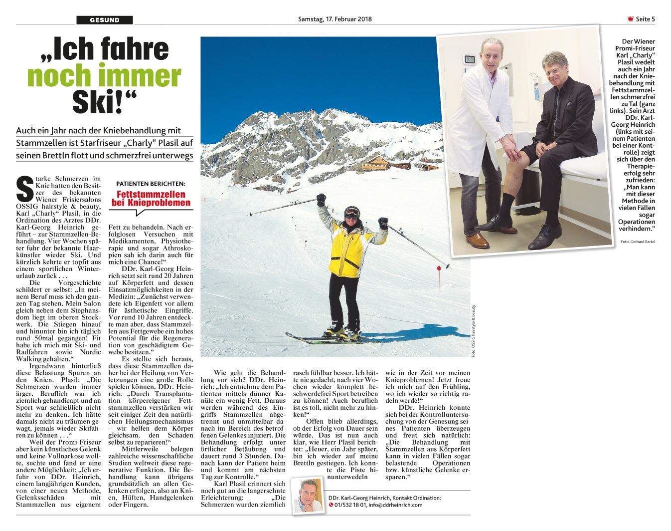 """Krone: """"Ich fahre noch immer Ski!"""""""